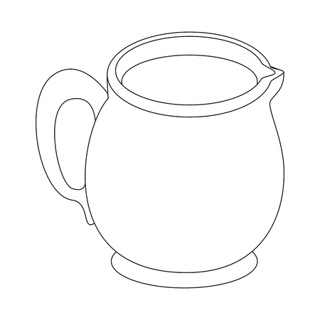A milk pitcher icon over white background vector illustration 일러스트