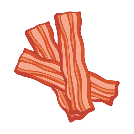 Bacon stripes icon over white background vector illustration. Zdjęcie Seryjne - 96437451