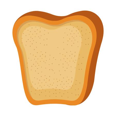 Loaf icon over white background vector illustration. Çizim