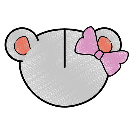 Cartoon mouse animal icon over white background colorful design vector illustration.