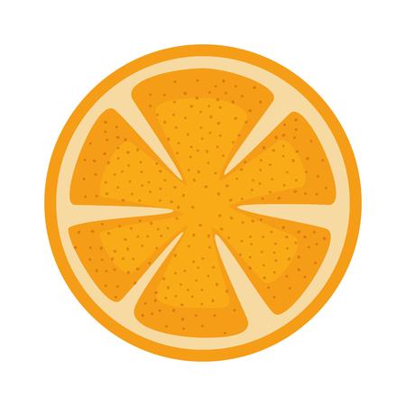 Orange slice fruit citrus vector illustration design