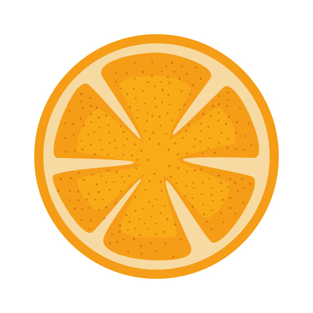 Orange slice fruit citrus vector illustration design
