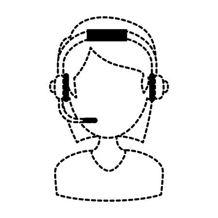female call center agent vector illustration design Illustration