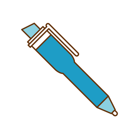 Pen supply isolated icon vector illustration design Stock Illustratie