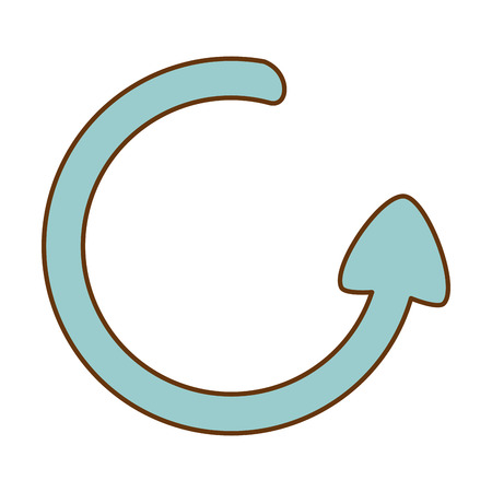 Arrow around isolated icon vector illustration design