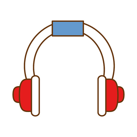 Headset communication device icon vector illustration design