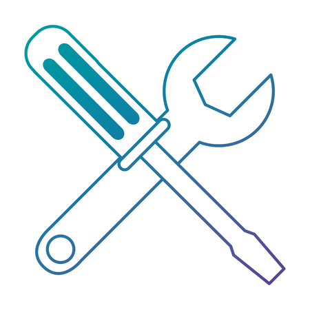 screwdriver and wrench tools vector illustration design 向量圖像