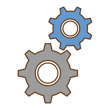 Gear machine isolated icon vector illustration design