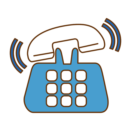 Phone service isolated icon vector illustration design