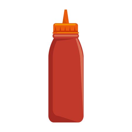 plastic sauce bottle icon vector illustration design