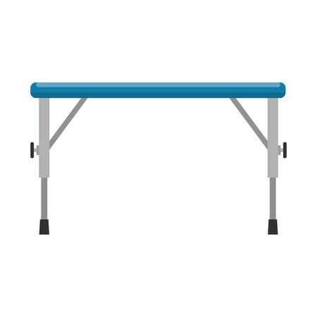 メタルテーブル隔離アイコンベクトルイラスト設計