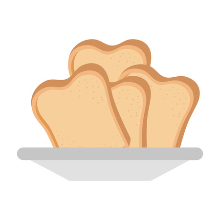 bread toast isolated icon vector illustration design Ilustração