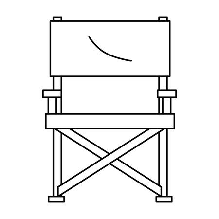 garden chair picnic icon vector illustration design