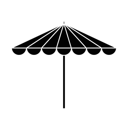 Garden umbrella isolated icon vector illustration design Imagens - 96519315
