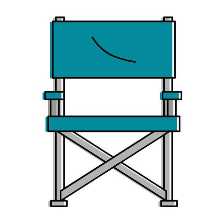 Garden chair picnic icon vector illustration design Illustration