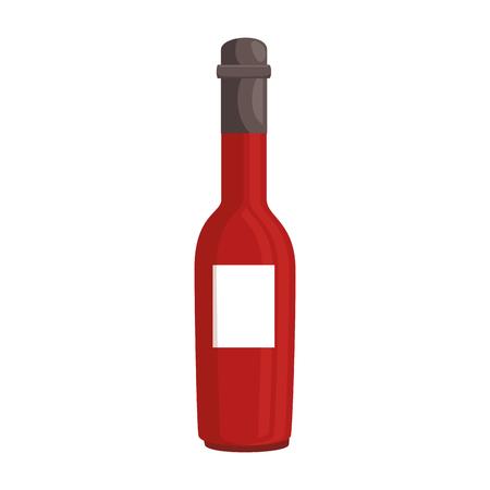 Bouteille de verre chaud bouteille illustration vectorielle conception Banque d'images - 96425843