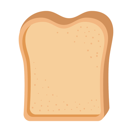 Bread toast isolated icon vector illustration design