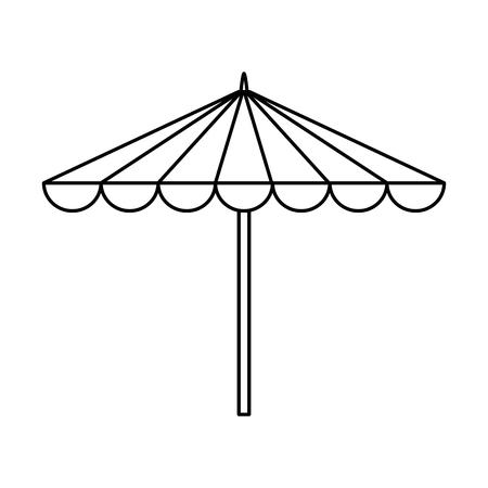 garden umbrella isolated icon vector illustration design