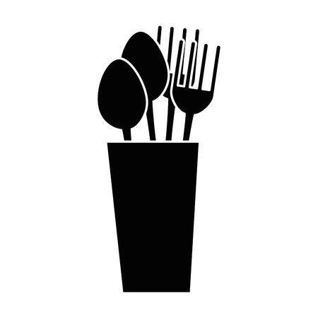 Glass with cutlery icon vector illustration design Иллюстрация