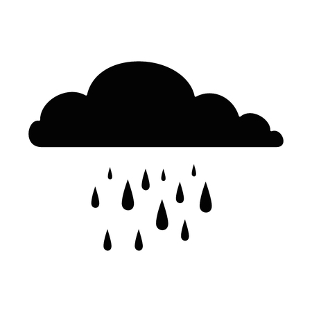 Cloud rainy sky isolated icon vector illustration design Illusztráció