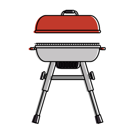 Grill oven isolated icon vector illustration design