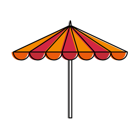 Garden umbrella isolated icon vector illustration design