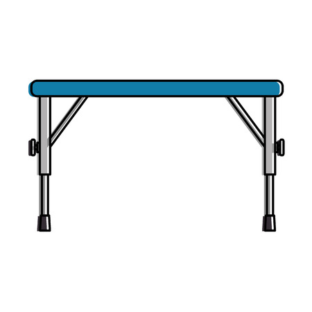 metal table isolated icon vector illustration design