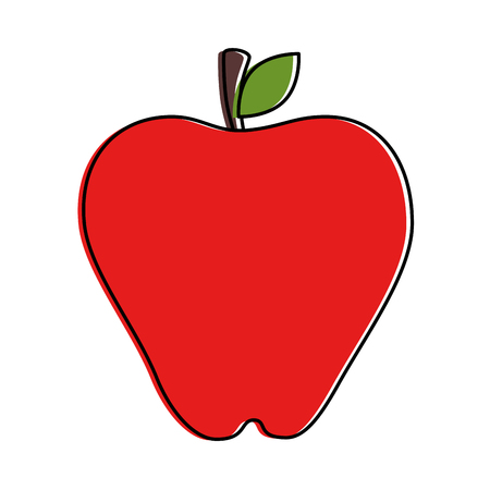 Apple fresh isolated icon vector illustration design Ilustrace