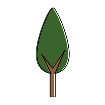 Tree plant isolated icon vector illustration design