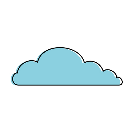 Cloud sky isolated icon vector illustration design Çizim