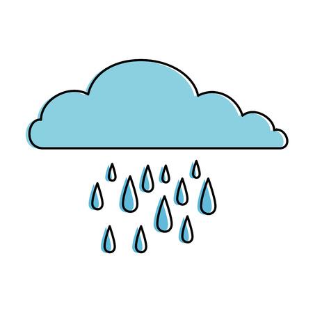 Vector de illustratieontwerp van het wolken regenachtig hemel geïsoleerd pictogram
