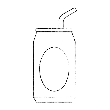 soda can with straw vector illustration design 向量圖像