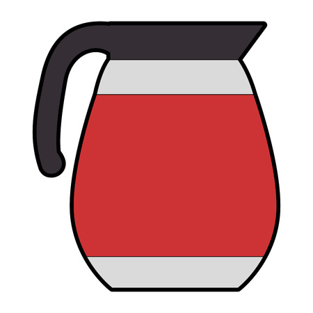 Coffee teapot isolated icon vector illustration design Stock Illustratie