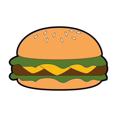 Delicious burger isolated icon vector illustration design Stock Vector - 96520157