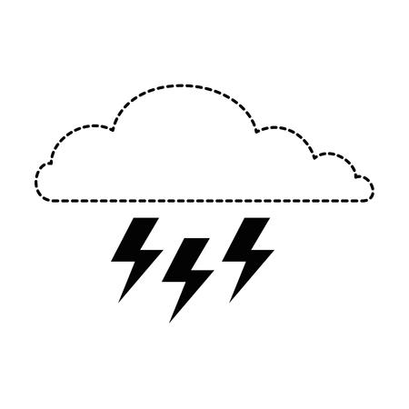 wolkenhemel met stralen pictogram vector illustratie ontwerp