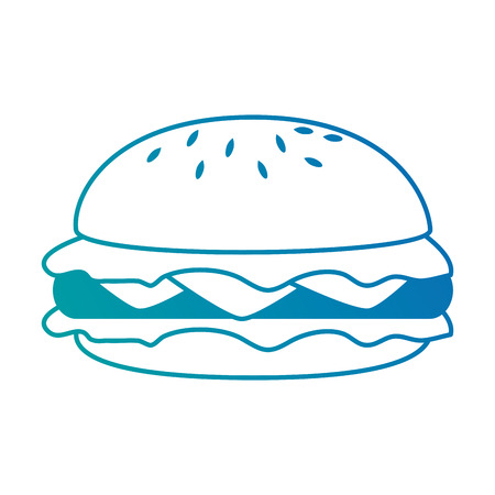 Delicious burger isolated icon vector illustration design Stock Illustratie