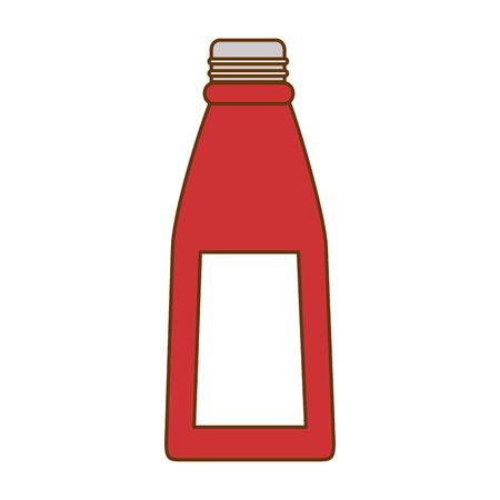 Glass bottle kitchen product vector illustration design