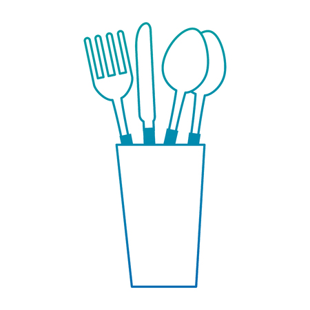 Glass with cutlery icon vector illustration design Ilustração
