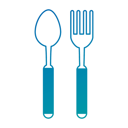 Fork and spoon cutlery icon vector illustration design