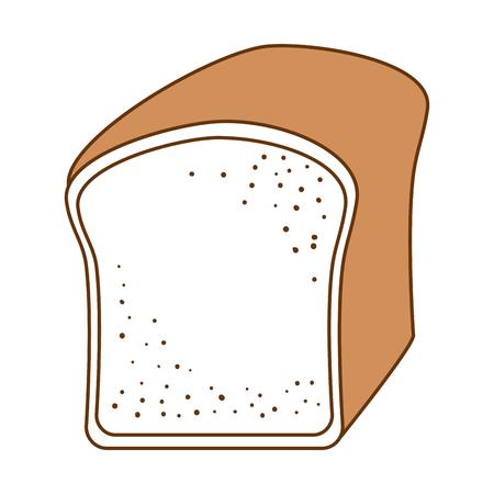 Bread toast isolated icon vector illustration design