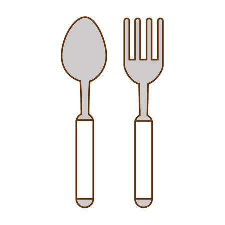 Fourchette et cuillère coutellerie icône illustration vectorielle conception Banque d'images - 96520835