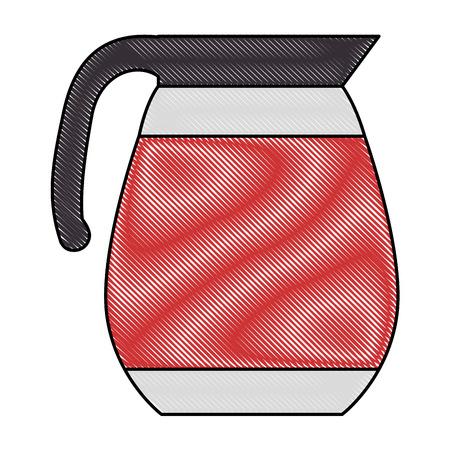 Coffee teapot isolated icon vector illustration design Ilustrace