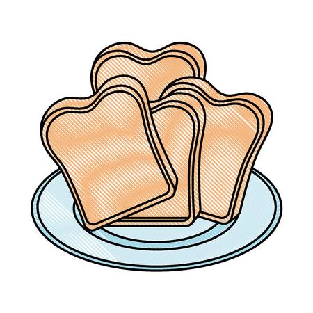 Brot Toast isoliert Symbol Vektor-Illustration , Design , Standard-Bild - 96521861