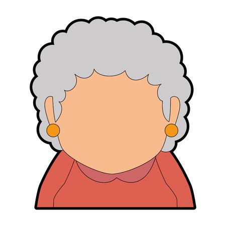 cute grandmother avatar character vector illustration design