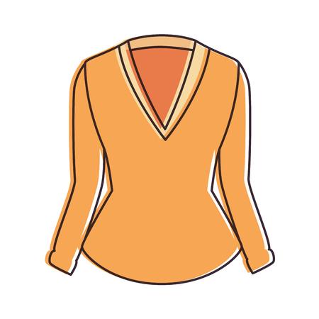 elegant blouse for women vector illustration design 版權商用圖片 - 96426028