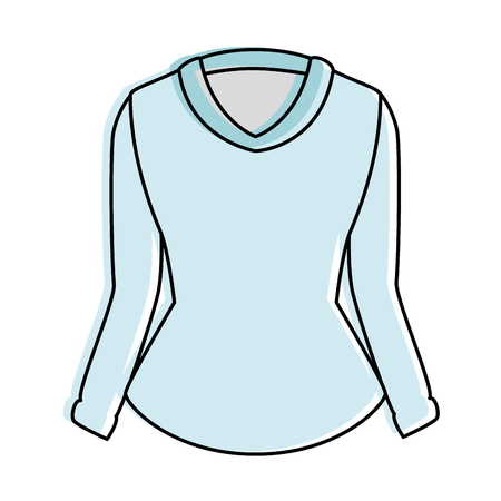 elegant blouse for women vector illustration design 版權商用圖片 - 96426030