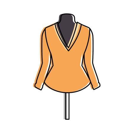 elegant blouse for women in manikin vector illustration design 版權商用圖片 - 96426043