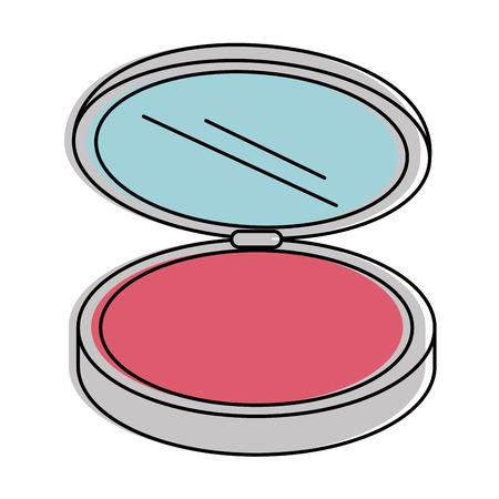 Make-up Pulver isoliert Symbol Vektor-Illustration , Design , Standard-Bild - 96426051