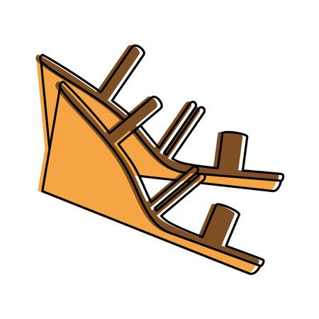 Elegant sandalen pictogram vector illustratie ontwerp met hakken Stockfoto - 96426059