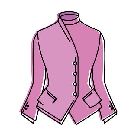 elegant blouse for women vector illustration design 일러스트
